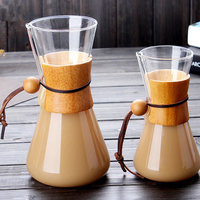 anti-scald glass share coffee pot/multifunction hand punch coffee funnel pot cold drip tool