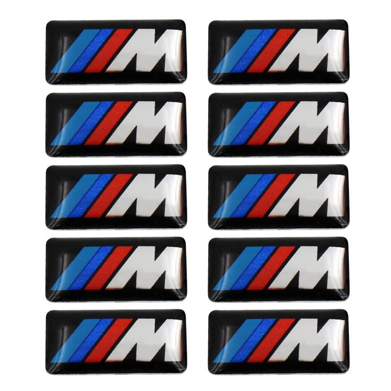 10pcs ABS Car M Power Emblem Badge Whole Body Sticker For BMW E46 E39 E90 E36 E60 E34 E30 F30 F10 F15 E53 E38 X5 E53 X6 X1 X3 cool car auto decoration badge stickers m logo metal 3d car sticker for bmw m3 m5 x1 x3 x5 x6 e36 e39 e46 e30 e60 e92 all model
