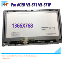 Original LCD Screen with Touch Panel for Acer V5 571 V5 571P 15.6''LCD Screen Assembly with Frame