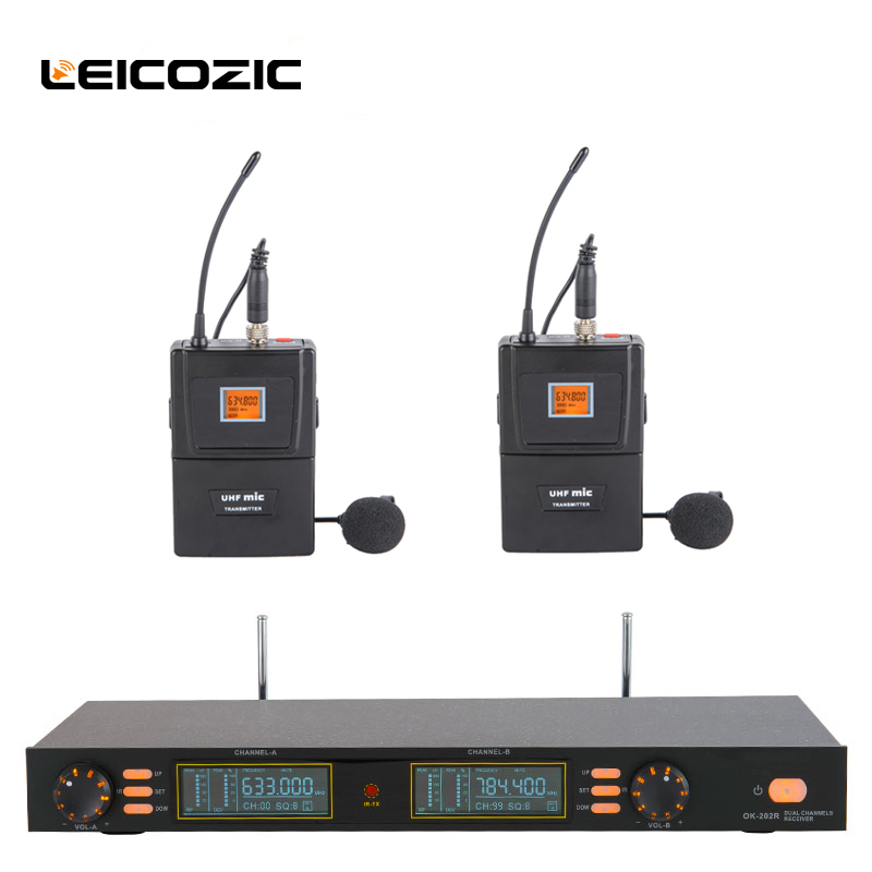 Leicozic Professional microfono lavalier microphone uhf 200 channels lavalier wireless microfone vocal singing microphone micLeicozic Professional microfono lavalier microphone uhf 200 channels lavalier wireless microfone vocal singing microphone mic