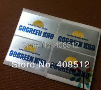 Autocollant brillant or/argent avec conception personnalisée/impression d'étiquettes de film hologramme logo