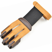 3 Finger Archery Protect Glove Archery Glove Shooting Glove Three Finger Design for Hunting Compound Recurve Bow