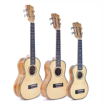 21/23inch bright light, ukulele, small guitar, spruce, rotten wood,