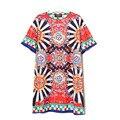 2017 Новая Коллекция Весна Мода Популярные Свободные Шею С Коротким Рукавом Костюм Dress
