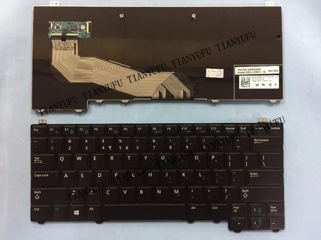 US $32 0 |English NEW E5440 KEYBOARD For DELL Latitude E5440 E5450 US BLACK  Laptop keyboard-in Replacement Keyboards from Computer & Office on