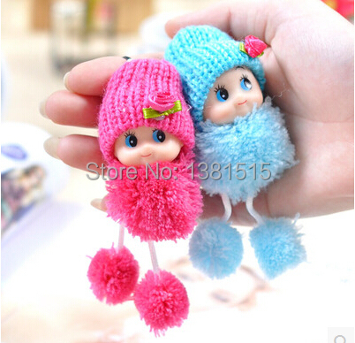 1PIC confused doll pendants Hat Doll Plush toys are cute clown doll creative pendants wholesale