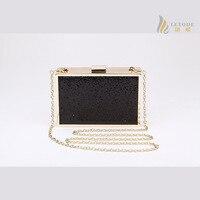 Desigua Glitter skórzane torebki wieczorowe damskie luksusowe znane marki torebki projektant mody sprzęgła torby bolsos metr łańcucha 8082-1