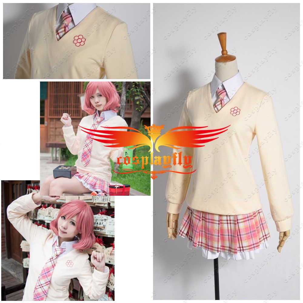 Noragami Gods God Of Poverty Kofuku Binbougami Suit Cosplay Costume Tie Only Beige Cream Top Coat Blouse Only Skirt In Stock