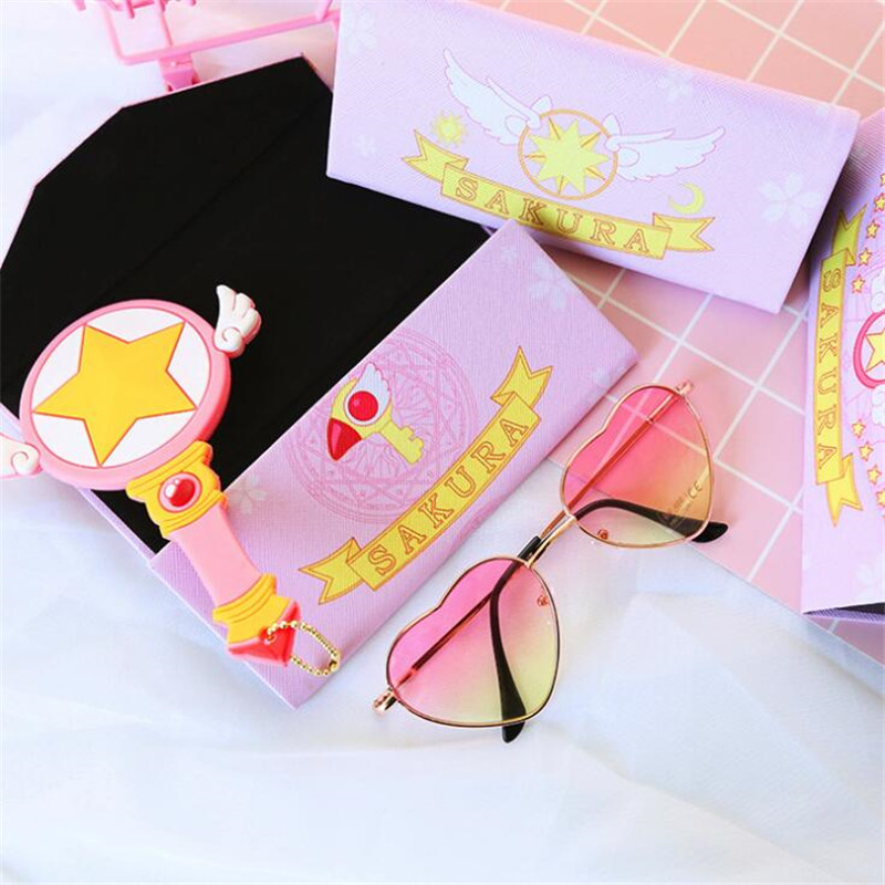 Anime Cardcaptor Sakura Glasses Case Cosplay Costumes Accessories Props Star Change Purse Moe Quest Small Fancy Bag