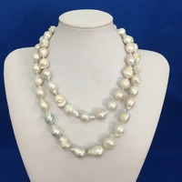 100% NATURE FRESHWATER NECKLACE, Baroque PEARL NECKLACE big pearls,22 inch and 18 inch