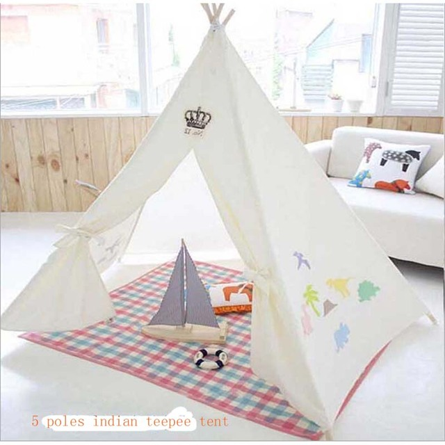 The Christmas teepee tents Cotton childrenu0027s tent Indoor doll house game lodge Outdoor holiday gifts for  sc 1 st  AliExpress.com & The Christmas teepee tents Cotton childrenu0027s tent Indoor doll ...