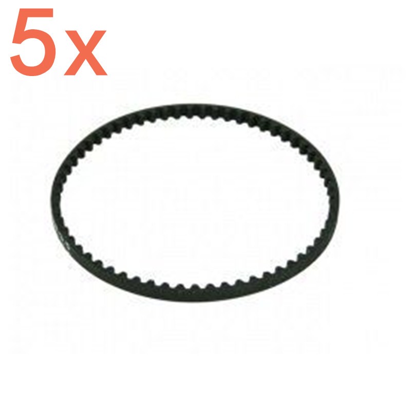 5pieces 3Racing 3R RC Low Friction Rear Belt 177T 171T (Bando) For Sakura XI S/TRF417/D4 RC Car #SAK-X09 For 1/10 Scale Models
