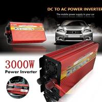 Vehemo Universal DC 12V 24V To AC 110V 220V 3000W Solar Inverter 50Hz Car Inverter Home