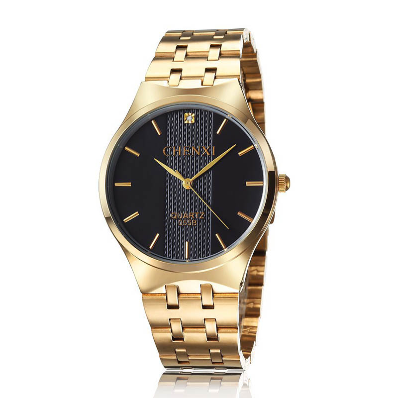 Watch Men CHENXI Top Brand Luxury Famous Male Clock  Waterproof Women Watch Gold Ladies Quartz Watches Relogio Masculino women men quartz silver watches onlyou brand luxury ladies dress watch steel wristwatches male female watch date clock 8877