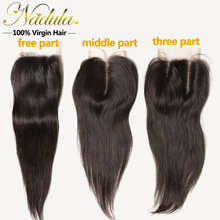 Only 1PC Brazilian Straight Hair Weave Closure 7A Brazilian Straight Human Hair With Closure Cheap Julia Virgin Hair Weave