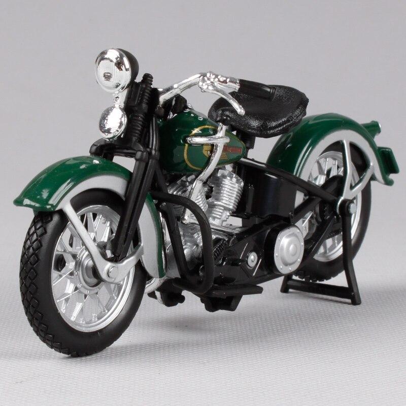 Maisto 1:18 Harley Army Green Motorcycle Model Harley 1936