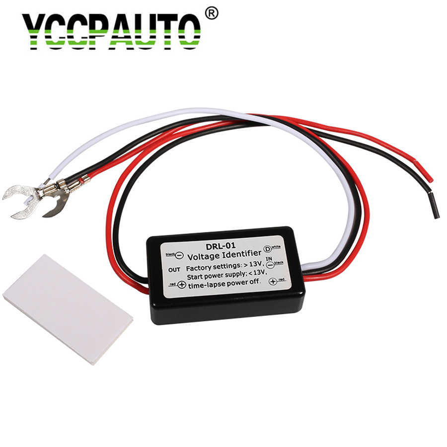 YCCPAUTO 1Pcs Newest Smart LED DRL Controller Auto Car LED Daytime Running Lights Controller Relay Harness Dimmer On/Off 12-18V