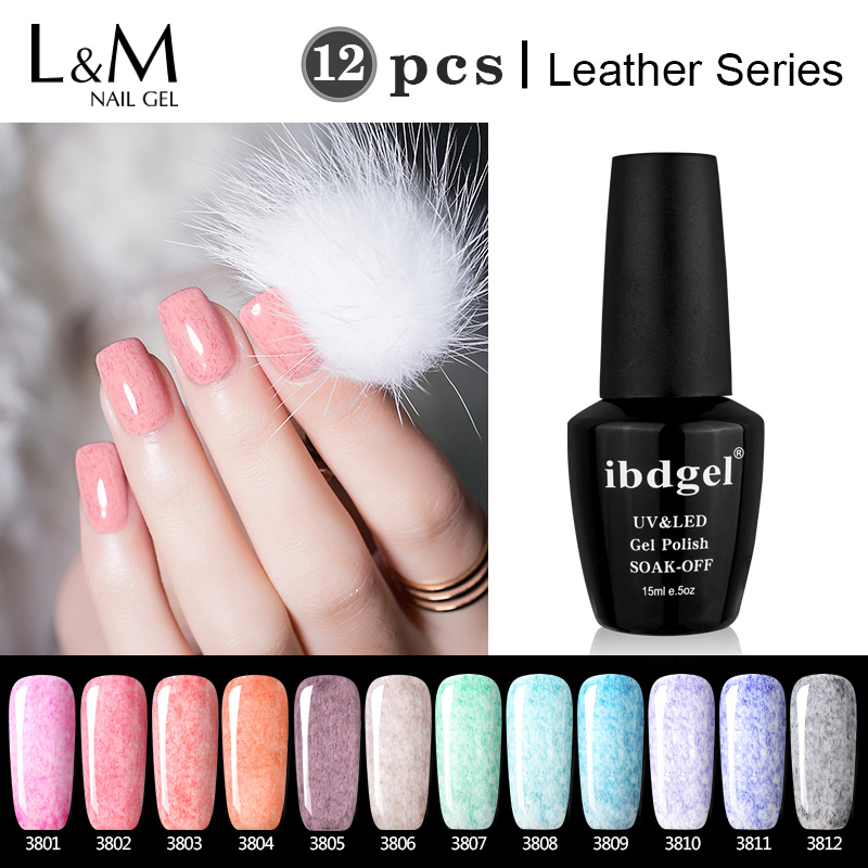 DHL TNT Delivery Fast Perfect Package 12 Pcs Leather Gel ibdgel Brand Leather Gel wonderful varnish