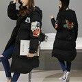 Wadded Cotton Jacket Women New Winter Coat Female Warm Parkas Hooded Cartoon Casual Plus Size Loose Coat Casaco Mujer MZ1195