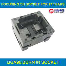 BGA96 OPEN TOP burn in socket pitch 1.0mm IC size 11*11mm BGA96(11*11)-1.0-TP01NT BGA96 VFBGA96 burn in programmer socket newest xeltek original superpro 610p high speed device usb universal ic chip programmer 13pcs burn block