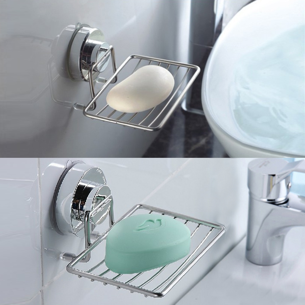 Strong Suction Cup Wall Soap Dish Holder Rustproof Vacuum Soap ...