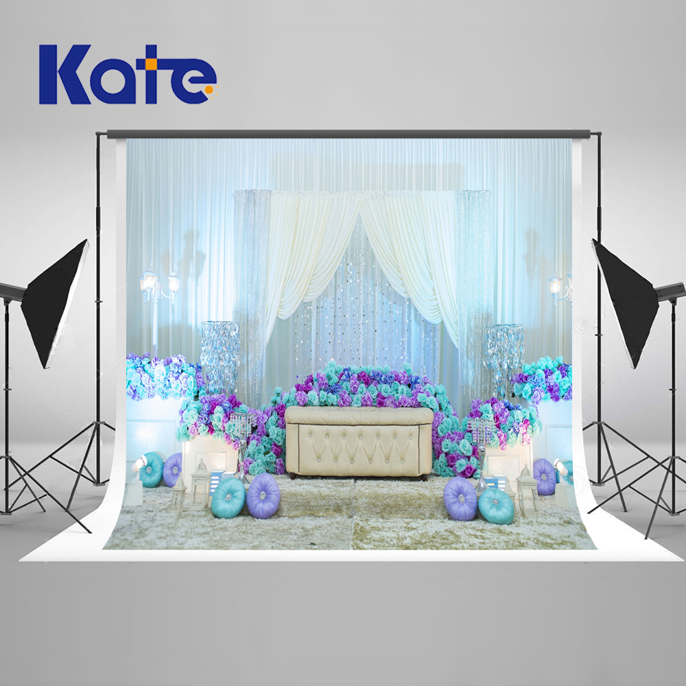 KATE Indoor Wedding Shoot White Curtain Photography Background Newborn Photography Props Backdrops Floral Backdrop for Photocall kate dry land photography backdrops land photography background retro children custom backdrop props for newborn photo shoot