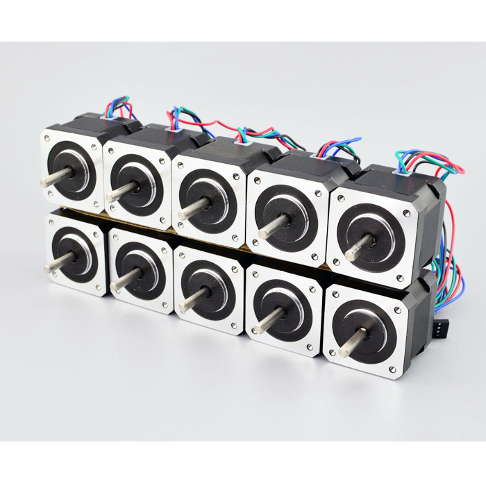 10PCS Nema 17 Stepper Motor 42*40mm 45Ncm(64oz.in) 2A Nema 17 Stepper 42 Motor 4-lead for DIY 3D Printer CNC Robot цены