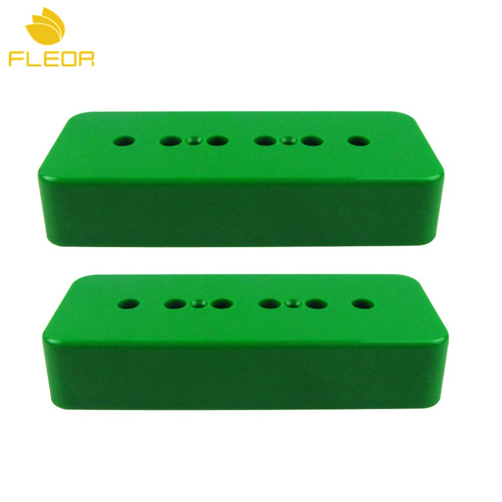 fleor 2pcs p90 soapbar electric guitar pickup covers plastic neck bridge covers p 90 green in. Black Bedroom Furniture Sets. Home Design Ideas