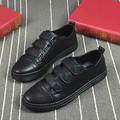 new 2017 spring men hook loop flat casual leather shoes cool guys hip hop shoes plus size 38-44