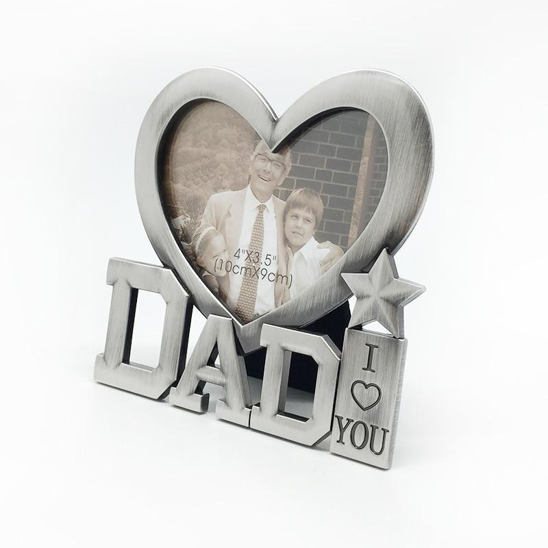 Neue Nette Herz Form metallrahmen für DAD Schöne DIY bilderrahmen ...
