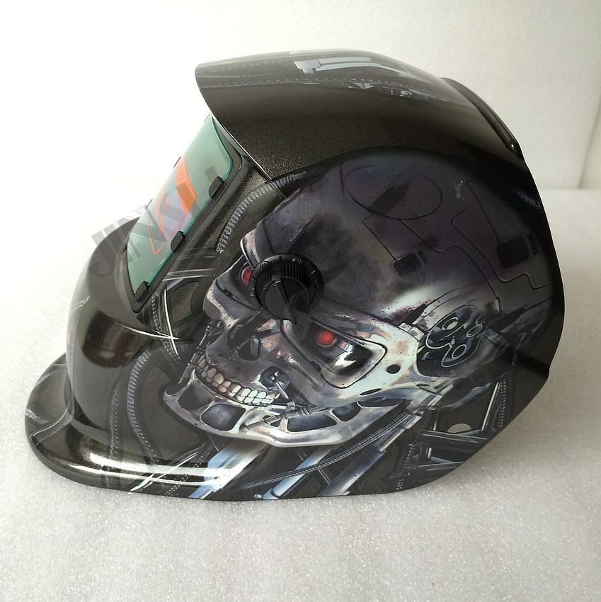 Skull welding mask welding mask for tig/arc/mig auto darkening welding helmet free shipping 24v dc mig welding wire feeder motor single drive 1pcs
