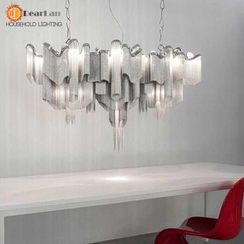 Modern Fashional Aluminum Chain Pendant Lamps,Good Design Luxury Hanging Lights For Living Room/Bedroom/Dinning Room fashional black white pendant lamps good looking hanging lights for indoor decoration for dinning room living room rest room