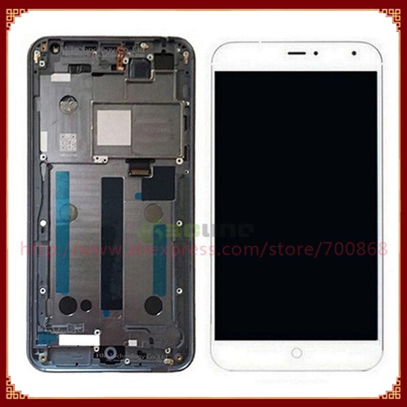 imágenes para Para meizu mx4 pantalla lcd con pantalla táctil digitalizador asamblea con marco negro/blanco envío gratis