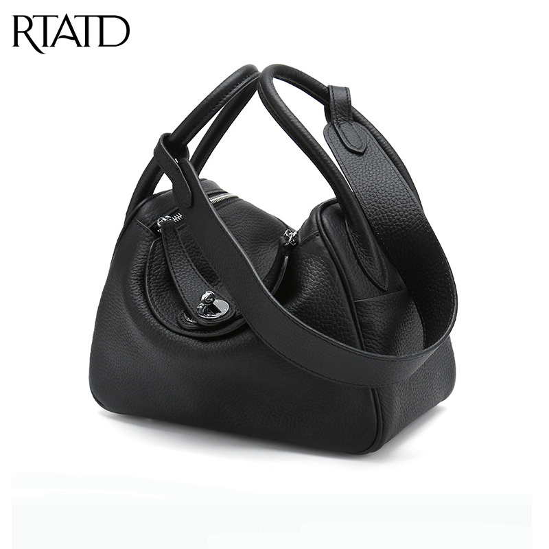 RTATD New genuine leather Box women handbags Fashion Famous Brand Design Lady Shoulder Bags Hot Sell Women Crossbody Bags B078