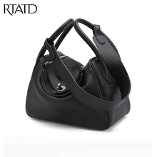 RTATD New genuine leather Box women handbags Fashion Famous Brand Design Lady Shoulder Bags Hot Sell Women Crossbody Bags B078