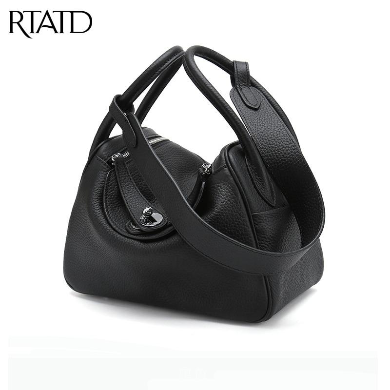 RTATD nouvelle boîte en cuir véritable femmes sacs à main de mode célèbre marque conception dame sacs à bandoulière vente chaude femmes sacs à bandoulière B078