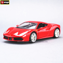 Bburago 1:32 Ferrari 488GTB High-imitation Car Model Die-casting Metal Toy Gift Simulated Alloy Collection
