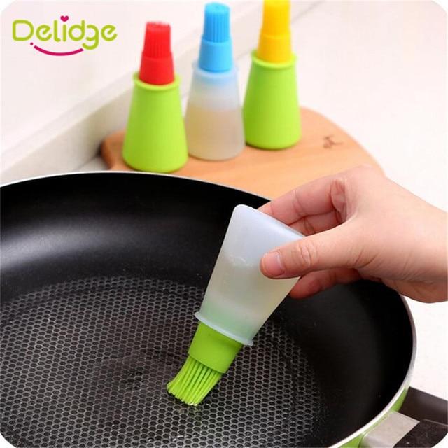 Delidge 1 Pc botella de aceite de silicona para hornear cepillo líquido de aceite de miel brochas herramienta de barbacoa asar panqueques accesorios de cocina