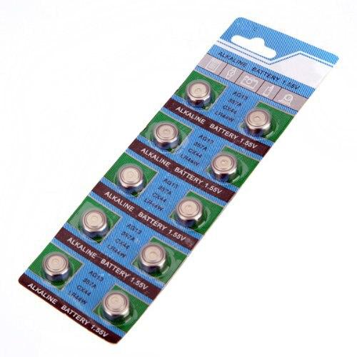 CES-Set of 10 <font><b>Batteries</b></font> AG13 LR44 G13-A D303 L1154 L1154F EPX76 A76 RW82 <font><b>357</b></font> SR44 alkaline