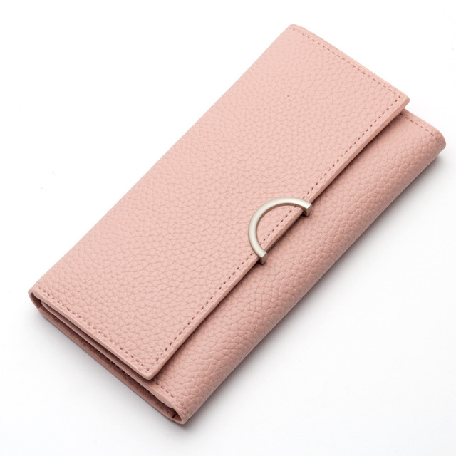 Hasp Long Female Wallet Women Purse Leather Wallet Women Card Holder Slim Coin  Purse Long Clutch Bag Girl Lady Fashion Money Bag 1619d3b703c1