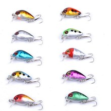 10pcs/set Crank Baits 10# Treble Hooks Bass Catfish CrankBaits Fishing Tackle Fishing Lures 2.6cm/1.6g