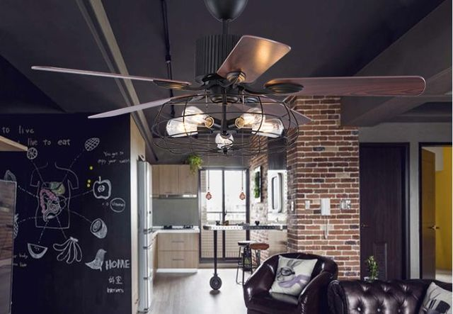 Kronleuchter Klein Vintage ~ Loft industrie fan kronleuchter fan licht vintage restaurant fan
