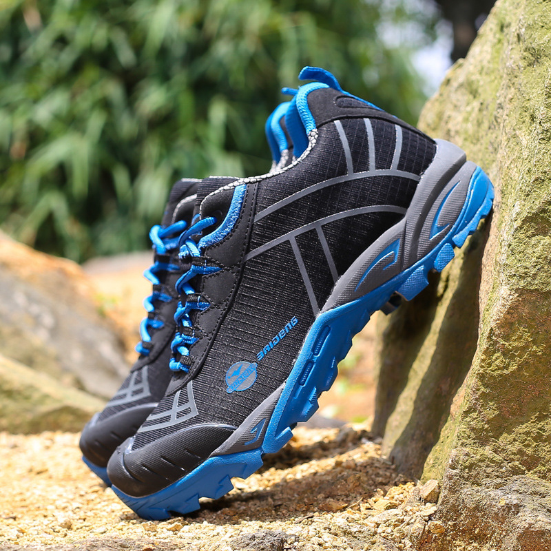 men outdoor shoes breathable hunting climbing mountain shoes camping trekking sport hiki ...