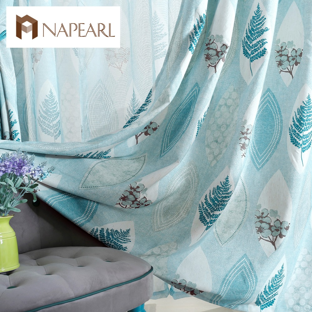 Rustic curtains and drapes - Mediterranean Style Rustic Design Home Drape Curtain Customized Curtains For Bedroom Window Blue Curtains Fresh Style