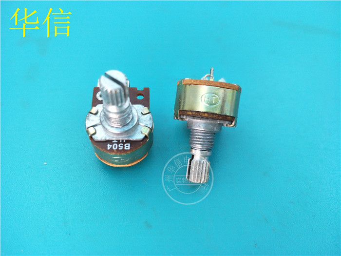 15 шт., 149-тип, один потенциометр B500K B504/изогнутые ножки/железная ручка 15 мм/ось цветов 2 фута