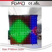 2mtr x 2mtr led follow spot video led lights P18 led display curtain full xxx led video curtain screen