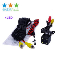 Universal High Definition CCD Car Rear View Cmera Night Vision Waterproof 4LED Lamp Reversing Image Backup