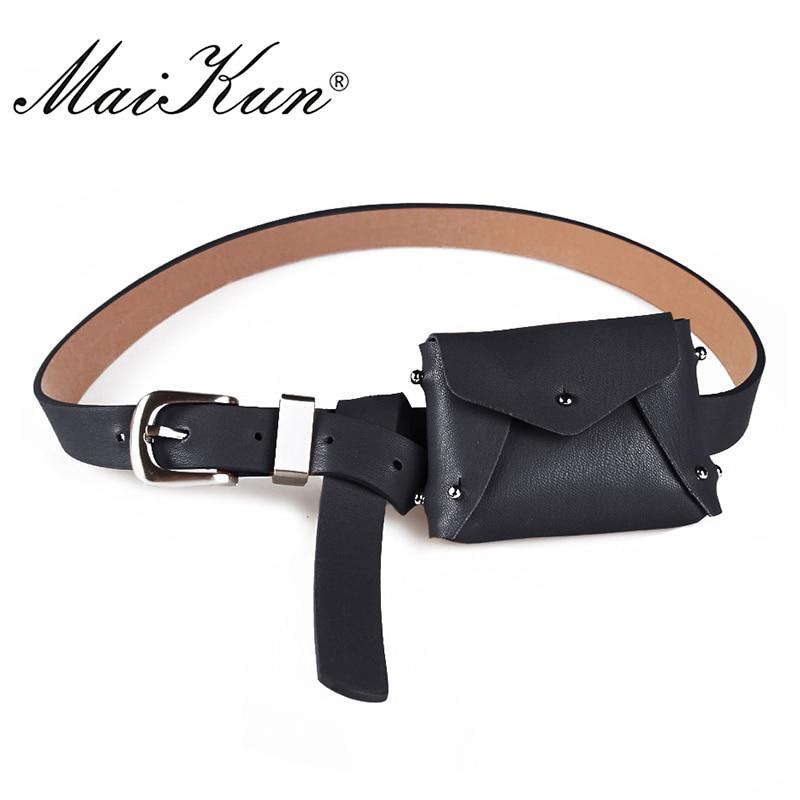 MaiKun Women's Bag Belts For Women Luxury Brand Pin Buckle Belt Female Casual Belt For Jeans