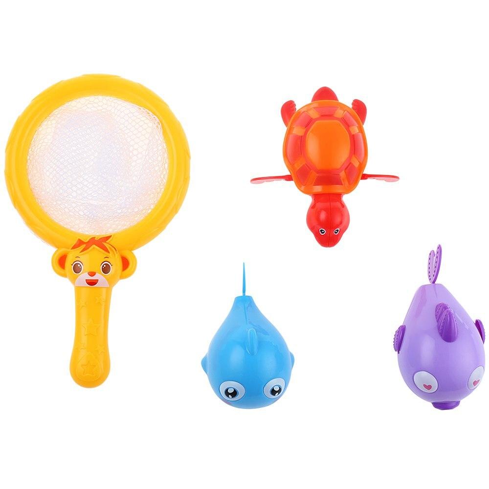 Colorful Baby Bath Toy Set Baby Floating Paddle Fishing Sea Animals ...