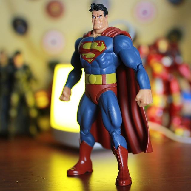 "DC Super hero s Superman Super hero Gordura Movable Ação PVC Figuras Collectible Modelo Toy Kids Presente 7 ""18 cm KT227"